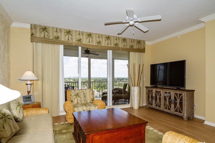 Real Estate Photography - 410 FLAGSHIP DR #1105, Naples, FL, 34108 - Living Room