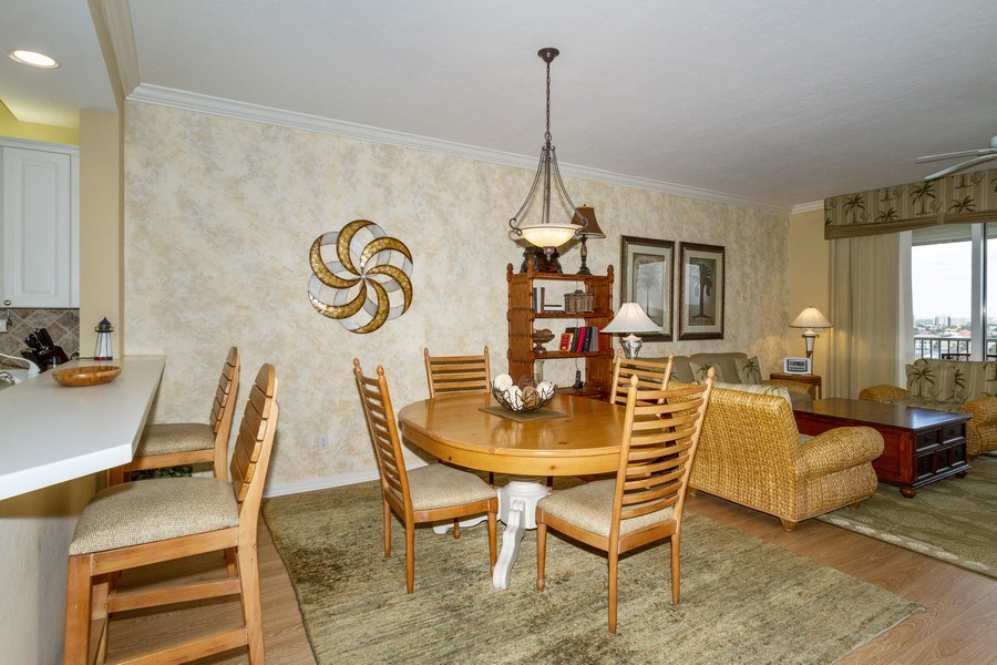 Real Estate Photography - 410 FLAGSHIP DR #1105, Naples, FL, 34108 - Dining Room