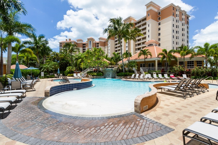 Real Estate Photography - 410 FLAGSHIP DR #1105, Naples, FL, 34108 - Outdoor Pool