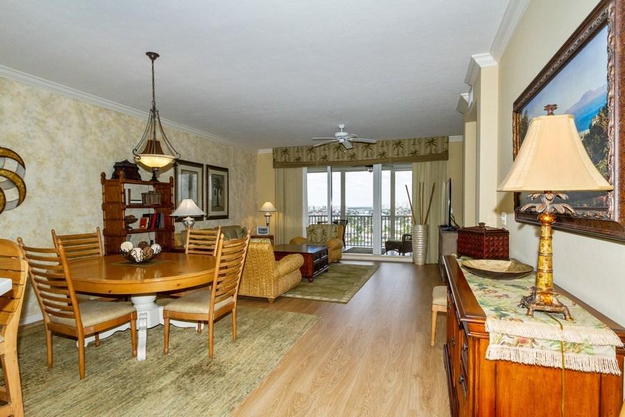 Real Estate Photography - 410 FLAGSHIP DR #1105, Naples, FL, 34108 - Living Room / Dining Room