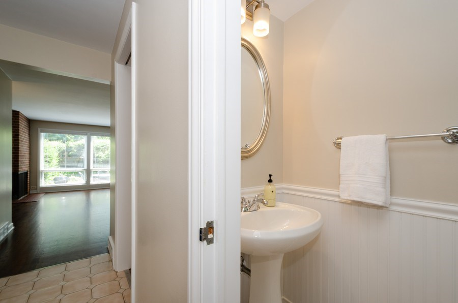 Real Estate Photography - 1109 Lake Ave, Wilmette, IL, 60091 - Powder Room
