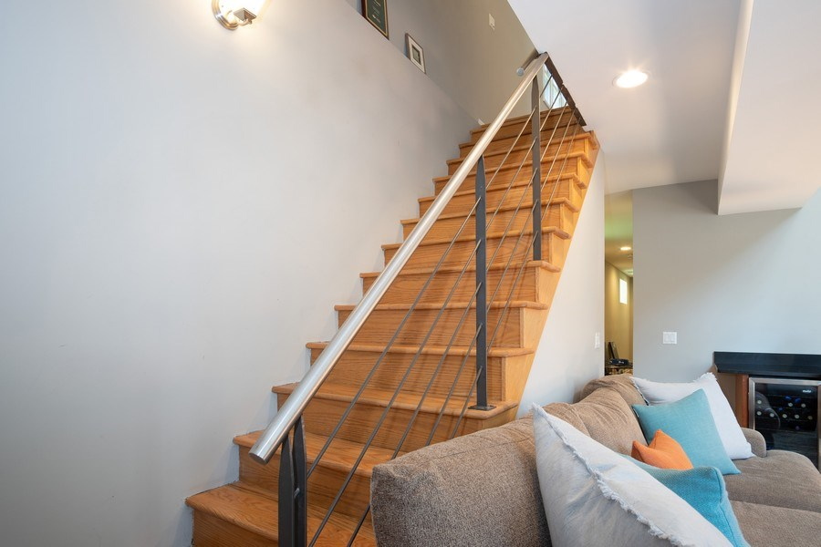 Real Estate Photography - 1136 N Morzart St, Chicago, IL, 60622 - Staircase