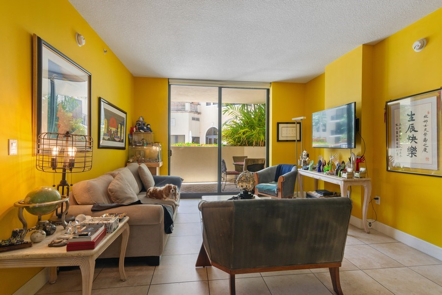 Real Estate Photography - 55 Merrick Way, Apt 503, Coral Gables, FL, 33134 - Living Room