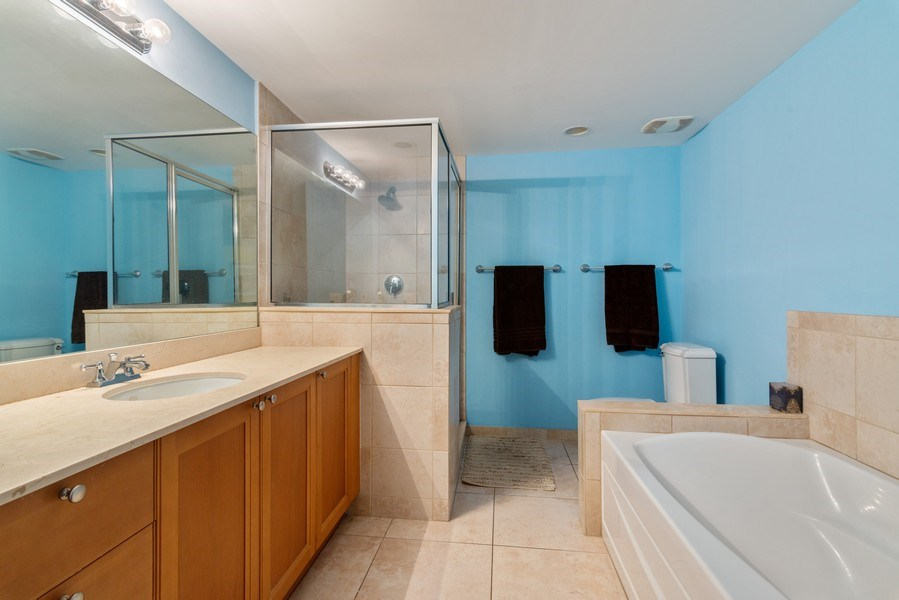 Real Estate Photography - 55 Merrick Way, Apt 503, Coral Gables, FL, 33134 - Master Bathroom