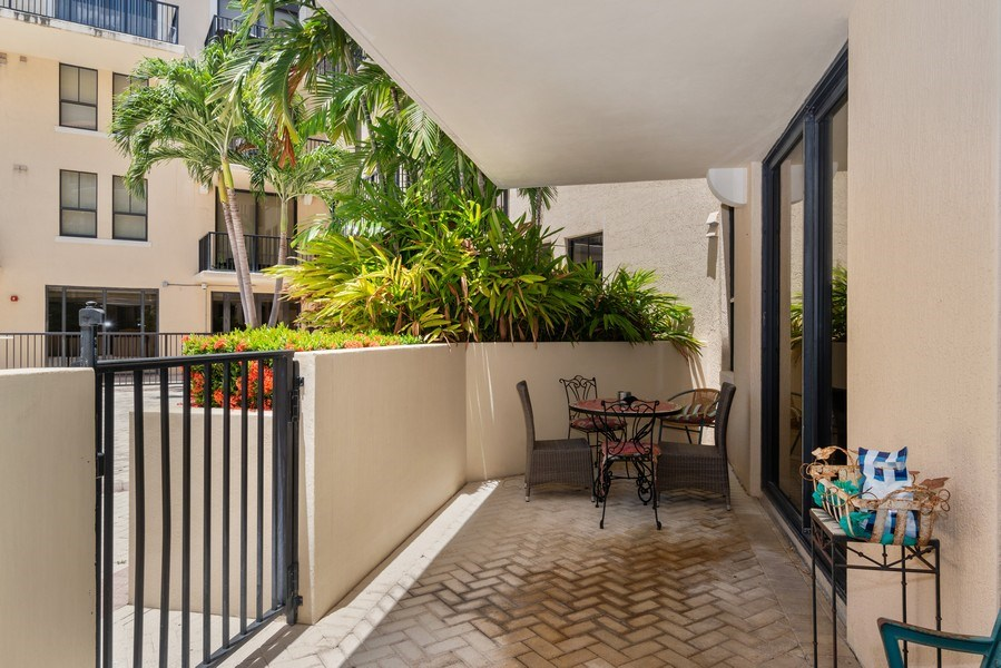 Real Estate Photography - 55 Merrick Way, Apt 503, Coral Gables, FL, 33134 - Terrace 2