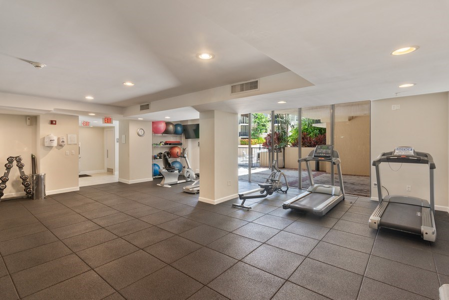 Real Estate Photography - 55 Merrick Way, Apt 503, Coral Gables, FL, 33134 - Gym