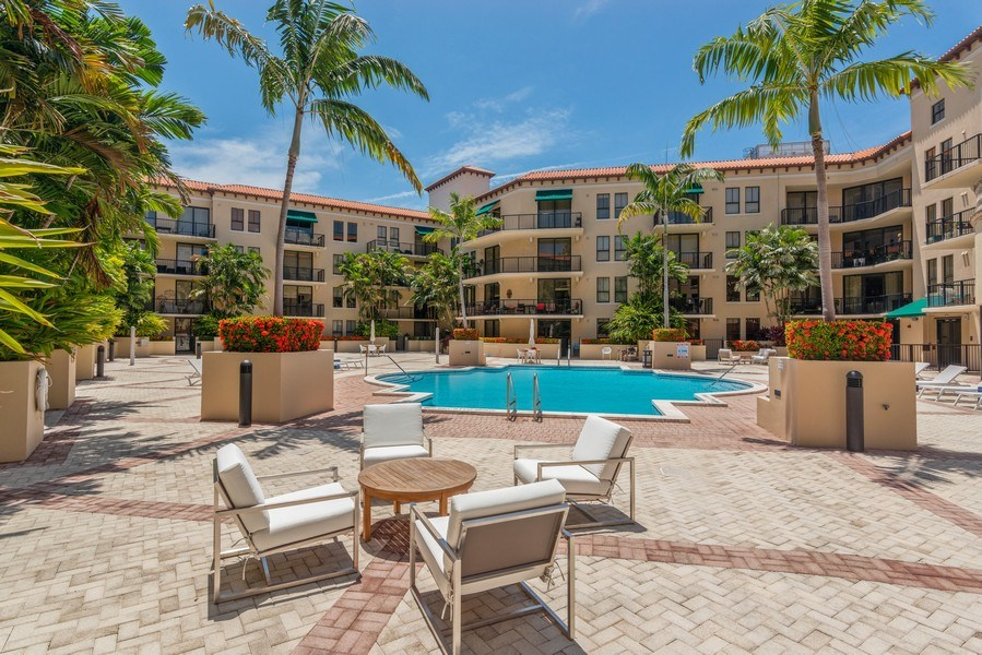 Real Estate Photography - 55 Merrick Way, Apt 503, Coral Gables, FL, 33134 - Courtyard