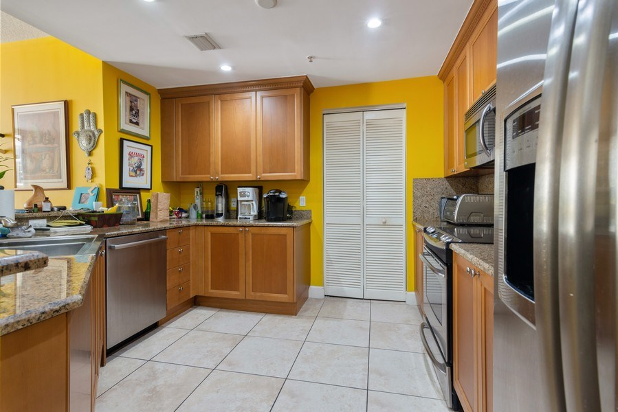 Real Estate Photography - 55 Merrick Way, Apt 503, Coral Gables, FL, 33134 - Kitchen
