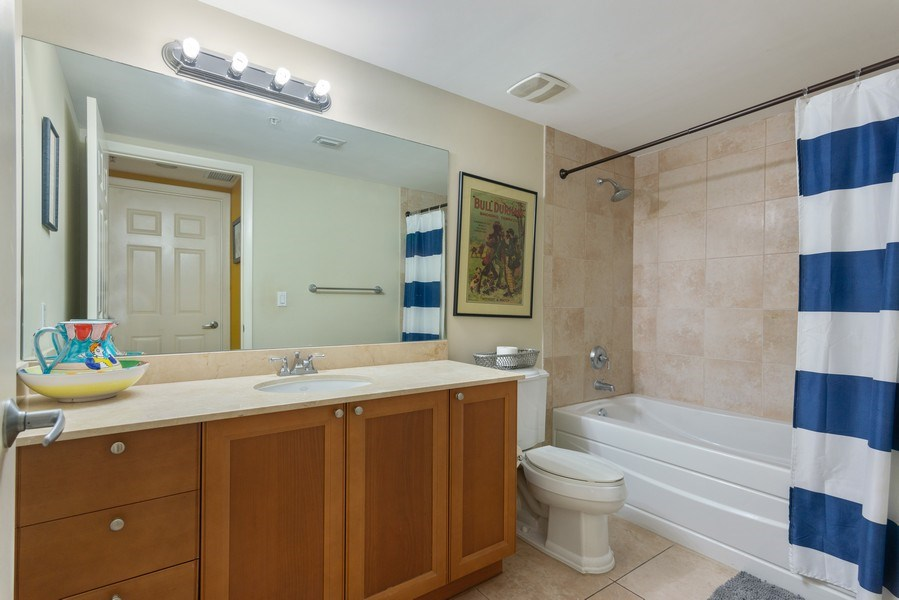 Real Estate Photography - 55 Merrick Way, Apt 503, Coral Gables, FL, 33134 - 2nd Bathroom