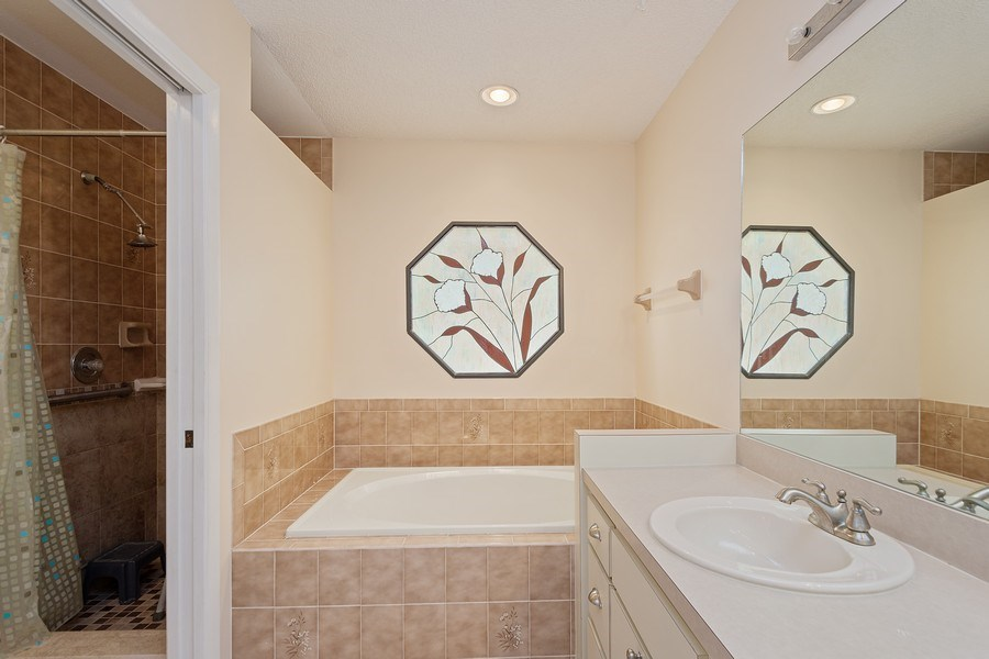 Real Estate Photography - 1908 Sandstone Place, Clearwater, FL, 33760 - Master Bathroom