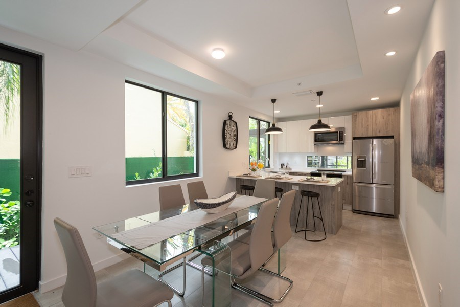 Real Estate Photography - 722 NE 15th Ave #1, Fort Lauderdale, FL, 33304 - Dining Room