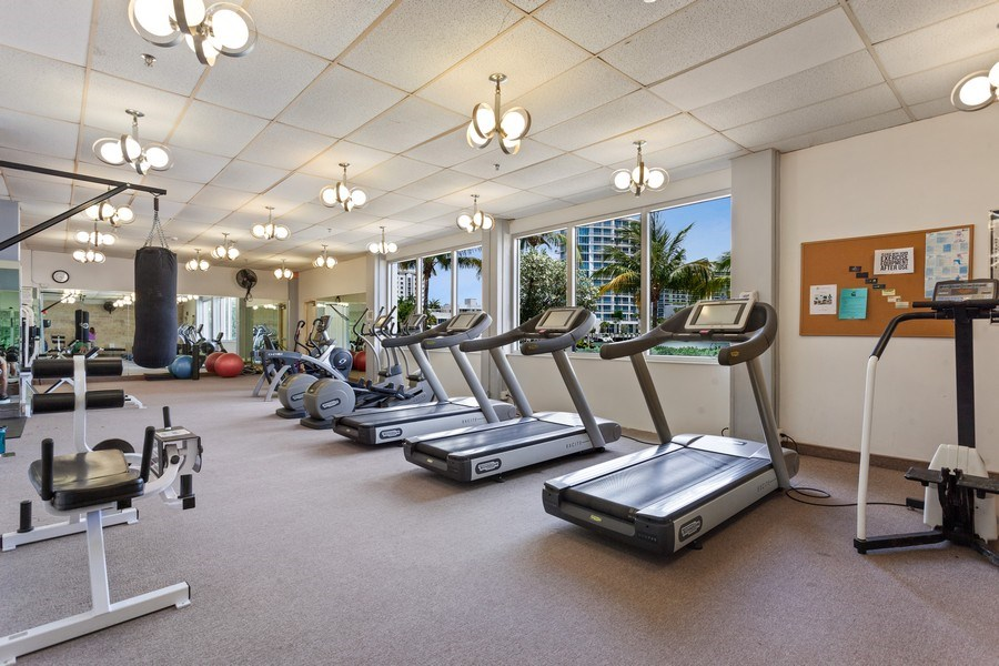 Real Estate Photography - 20 Island Ave, 405, Miami Beach, FL, 33139 - Gym