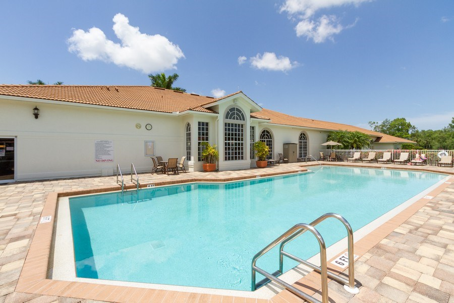 Real Estate Photography - 1070 Marblehead Dr, Naples, FL, 34104 - Outdoor Pool