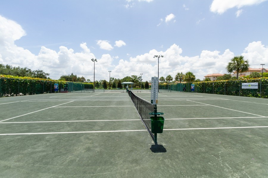 Real Estate Photography - 1070 Marblehead Dr, Naples, FL, 34104 - Tennis Court