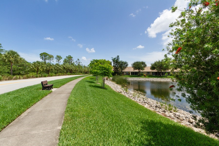 Real Estate Photography - 1070 Marblehead Dr, Naples, FL, 34104 - Walking Path