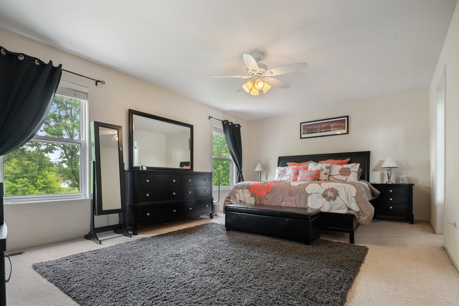 Real Estate Photography - 583 Donna Ave, Aurora, IL, 60505 - Master Bedroom