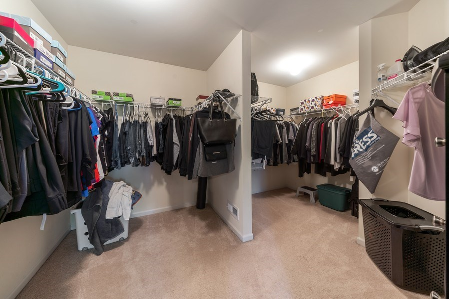 Real Estate Photography - 583 Donna Ave, Aurora, IL, 60505 - Master Bedroom Closet