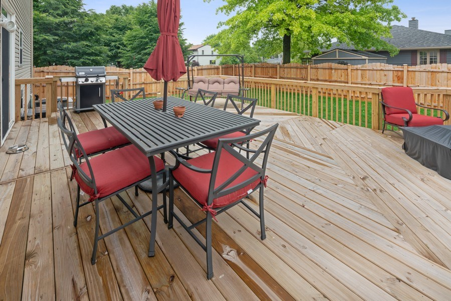 Real Estate Photography - 583 Donna Ave, Aurora, IL, 60505 - Deck
