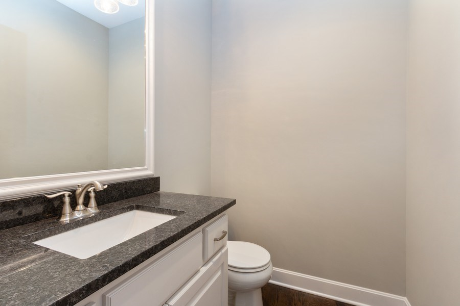 Real Estate Photography - 9390 Brownridge, Lenexa, KS, 66220 - Half Bath