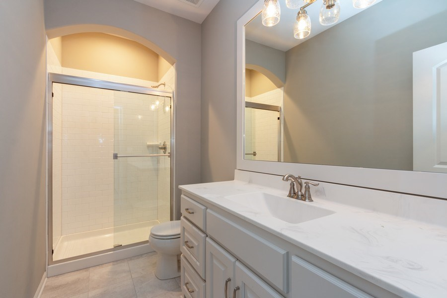 Real Estate Photography - 9390 Brownridge, Lenexa, KS, 66220 - Bathroom