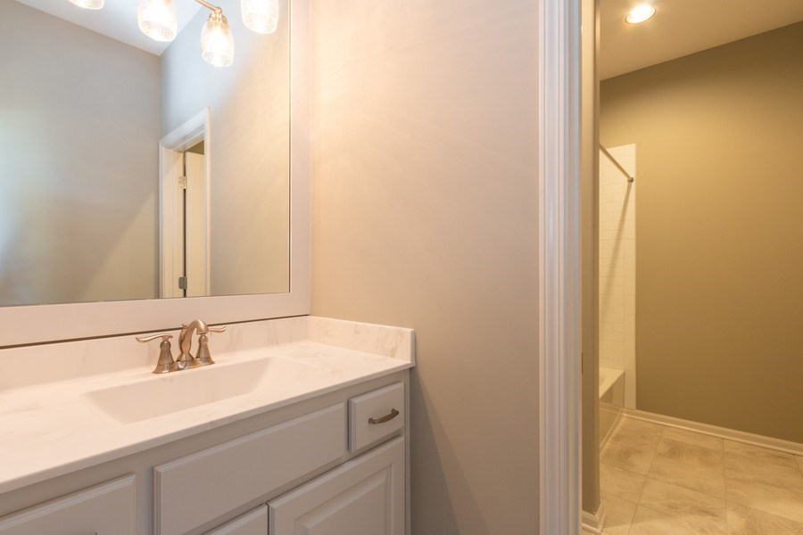 Real Estate Photography - 9390 Brownridge, Lenexa, KS, 66220 - 2nd Bathroom