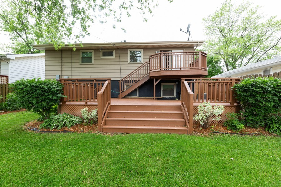 Real Estate Photography - 3009 Hopkins St, Steger, IL, 60475 - Rear View