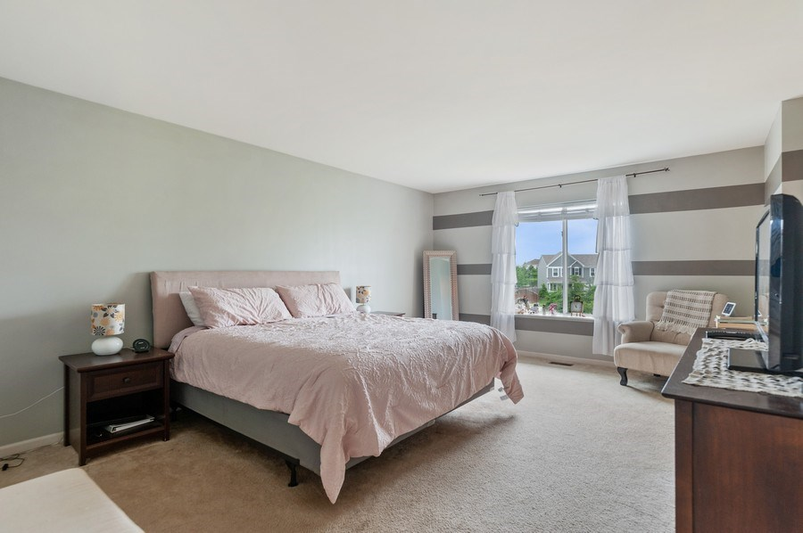 Real Estate Photography - 1565 Prospect Circle, Pingree Grove, IL, 60140 - Master Bedroom