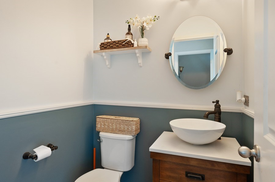 Real Estate Photography - 1565 Prospect Circle, Pingree Grove, IL, 60140 - Powder Room