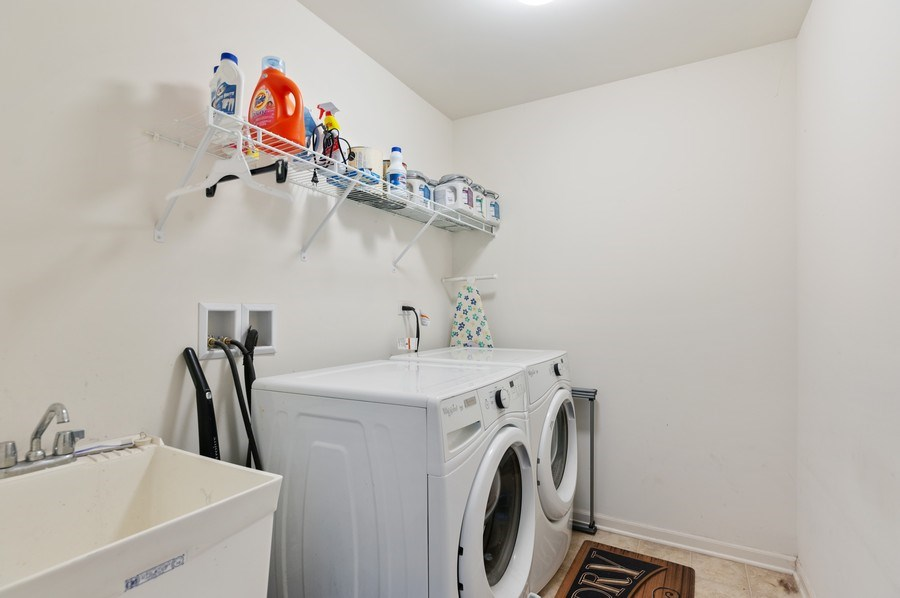 Real Estate Photography - 1565 Prospect Circle, Pingree Grove, IL, 60140 - Laundry Room