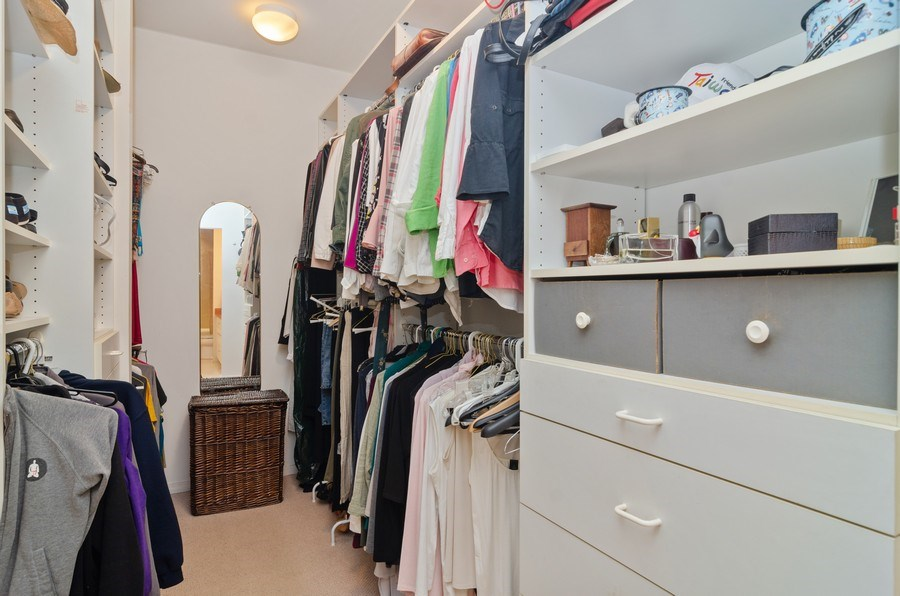 Real Estate Photography - 1443 Cleveland, Chicago, IL, 60610 - Master Bedroom Closet