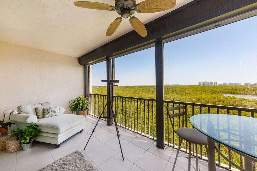 Real Estate Photography - 425 Cove Tower Dr, Naples, FL, 34110 - Balcony