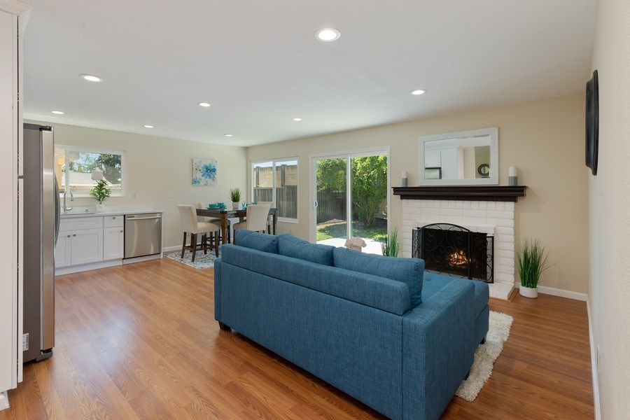 Real Estate Photography - 1105 Nicklaus Ave, Milpitas, CA, 95035 - Family Room / Kitchen