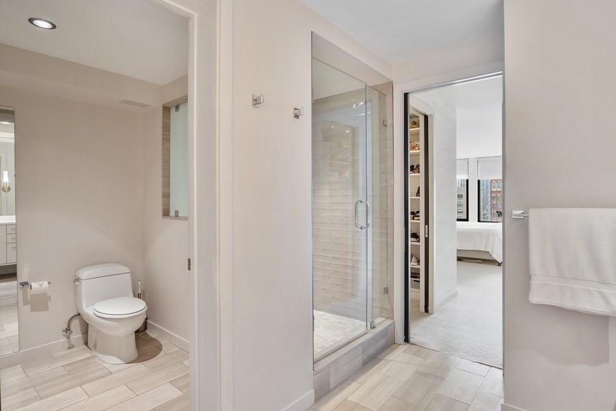 Real Estate Photography - 200 E Delaware, Unit 22D, Chicago, IL, 60611 - Master Bathroom