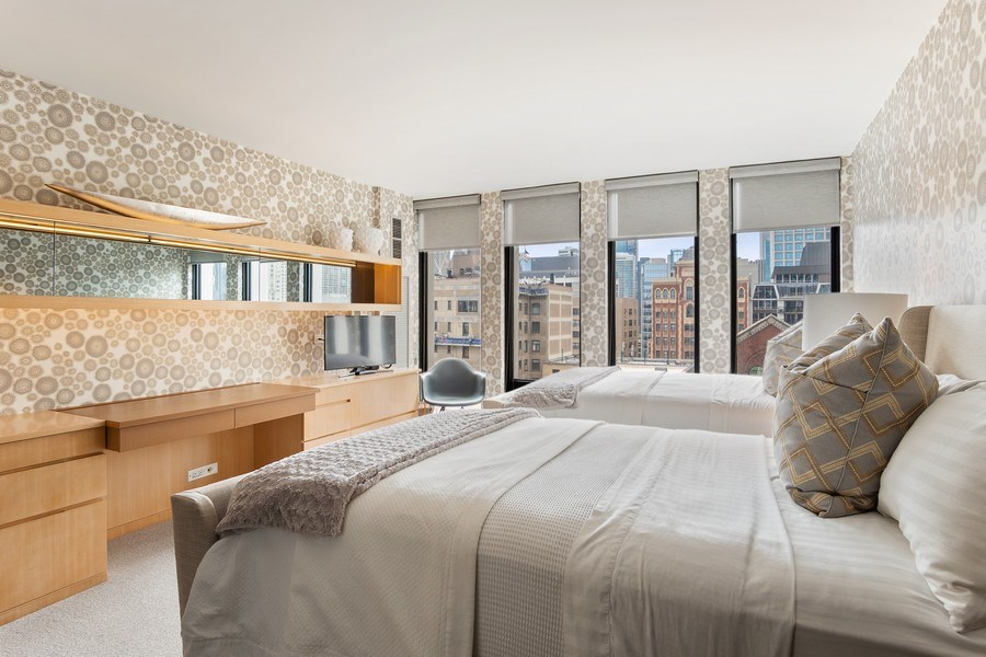 Real Estate Photography - 200 E Delaware, Unit 22D, Chicago, IL, 60611 - 2nd Bedroom