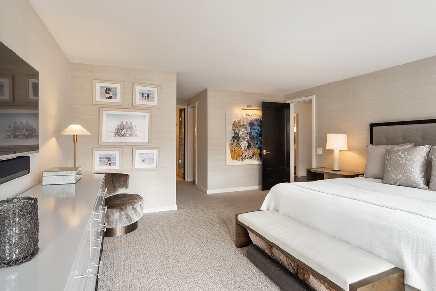 Real Estate Photography - 200 E Delaware, Unit 22D, Chicago, IL, 60611 - Master Bedroom