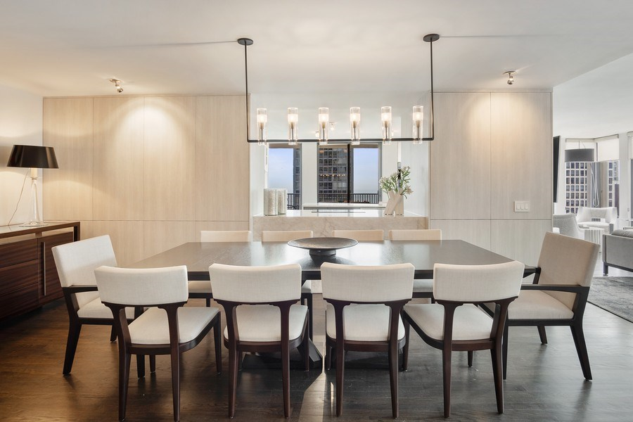 Real Estate Photography - 200 E Delaware, Unit 22D, Chicago, IL, 60611 - Dining Room