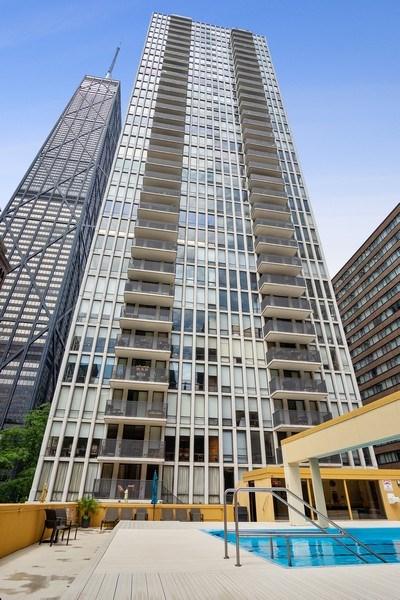 Real Estate Photography - 200 E Delaware, Unit 22D, Chicago, IL, 60611 - Front View