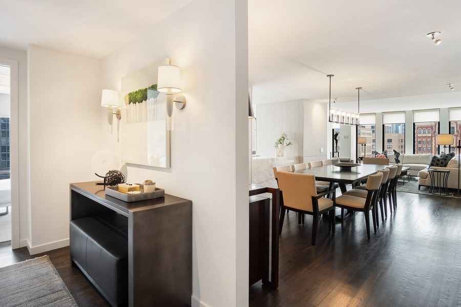 Real Estate Photography - 200 E Delaware, Unit 22D, Chicago, IL, 60611 - Foyer