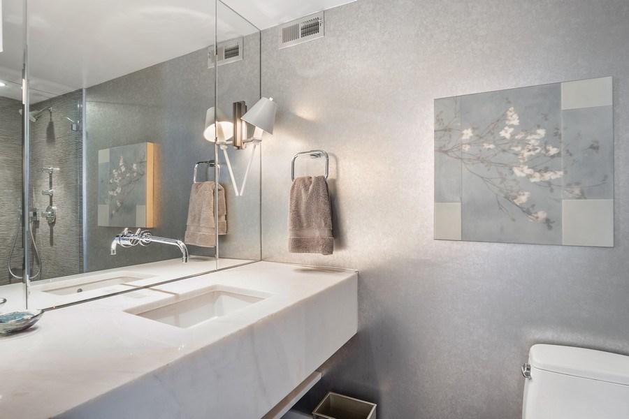 Real Estate Photography - 200 E Delaware, Unit 22D, Chicago, IL, 60611 - 3rd Bathroom