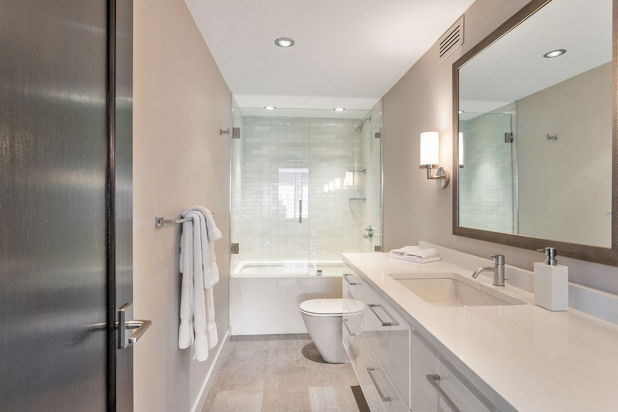 Real Estate Photography - 200 E Delaware, Unit 22D, Chicago, IL, 60611 - 2nd Bathroom