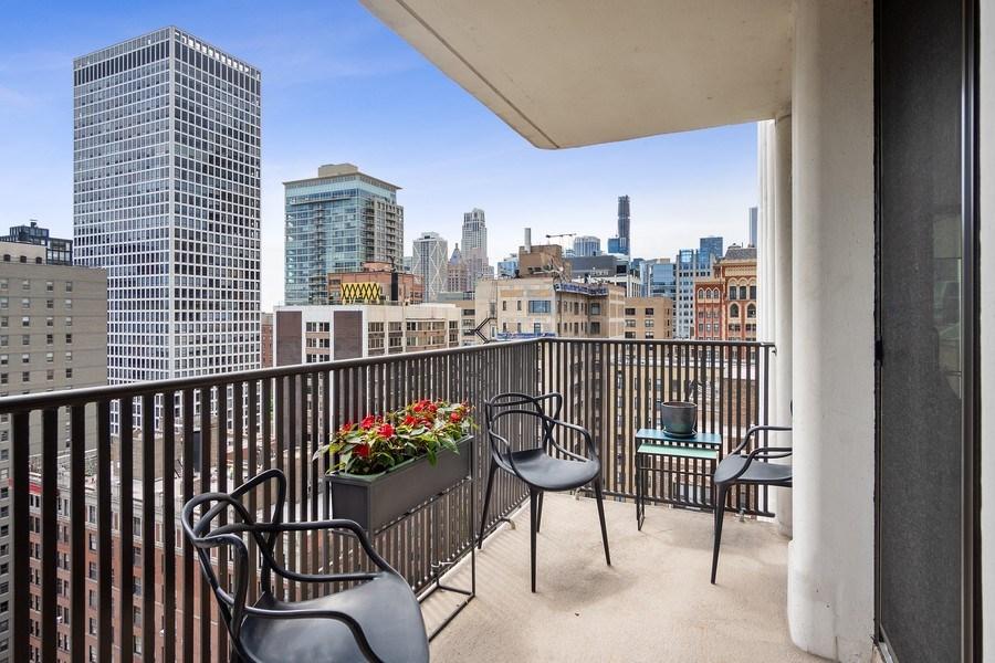 Real Estate Photography - 200 E Delaware, Unit 22D, Chicago, IL, 60611 - Balcony