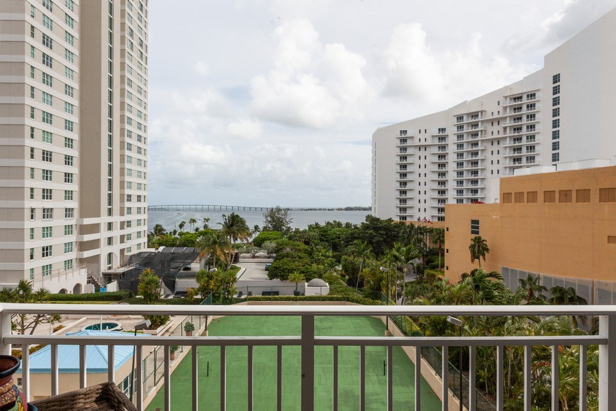 Real Estate Photography - 770 Cloaughton Island Dr, Unit 806, Miami, FL, 33131 - Balcony