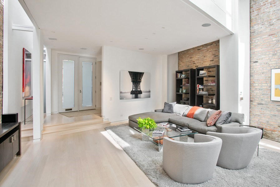 Real Estate Photography - 2138 N. Racine, Chicago, IL, 60614 - Living Room