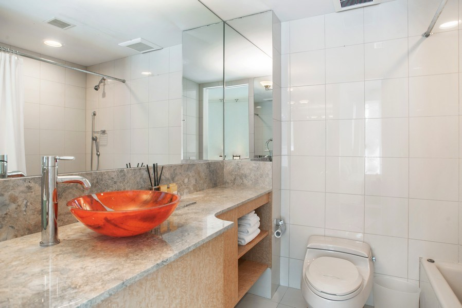 Real Estate Photography - 2138 N. Racine, Chicago, IL, 60614 - 2nd Bathroom