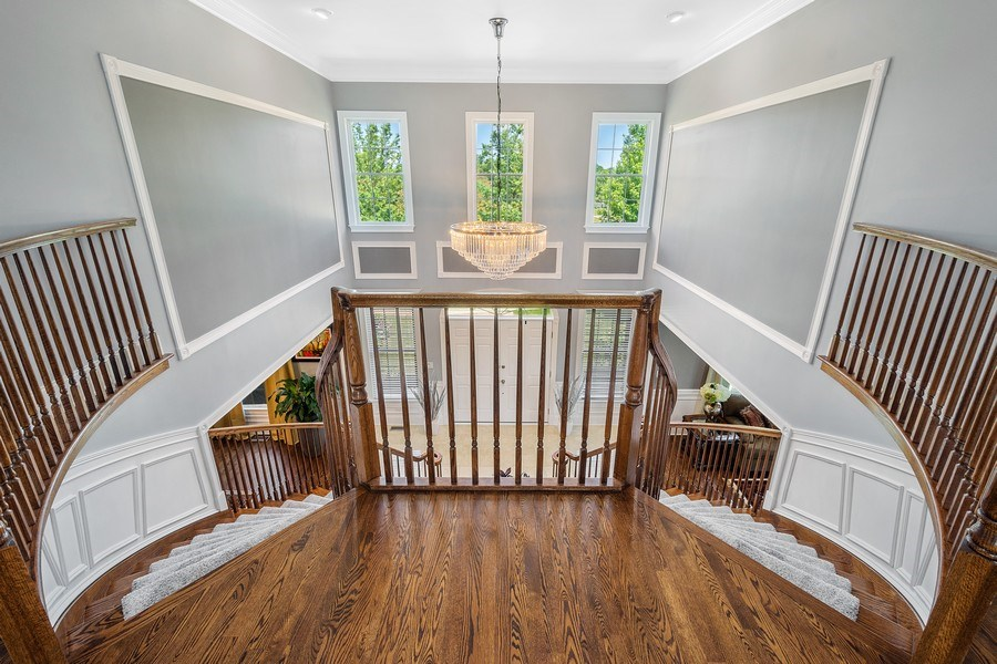 Real Estate Photography - 84 Tournament Dr N, Hawthorn Woods, IL, 60047 - Bridal Staircase