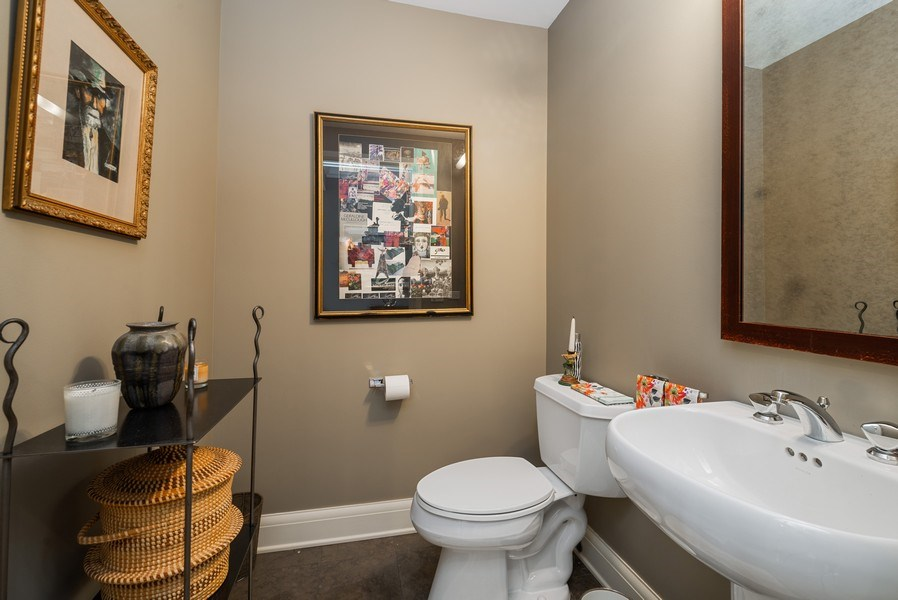 Real Estate Photography - 270 E Pearson, Apt 1102, Chicago, IL, 60611 - Powder Room