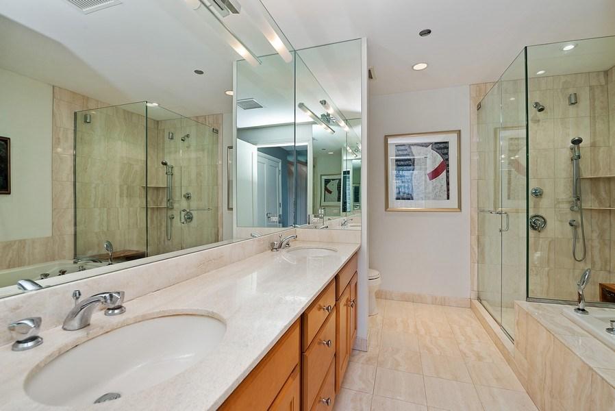 Real Estate Photography - 270 E Pearson, Apt 1102, Chicago, IL, 60611 - Master Bathroom