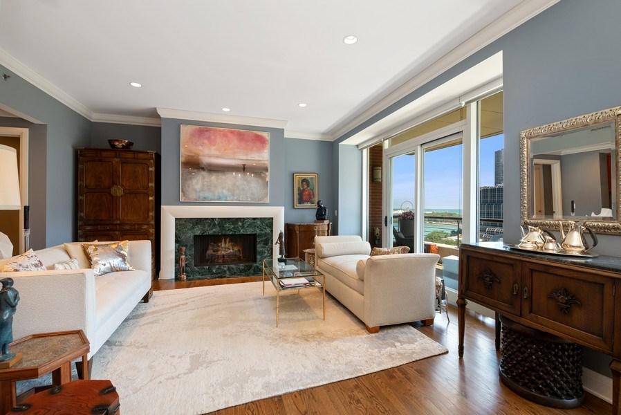 Real Estate Photography - 270 E Pearson, Apt 1102, Chicago, IL, 60611 - Living Room
