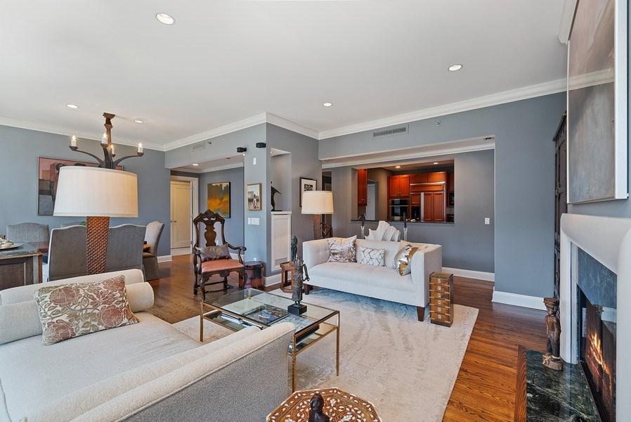 Real Estate Photography - 270 E Pearson, Apt 1102, Chicago, IL, 60611 - Great Room
