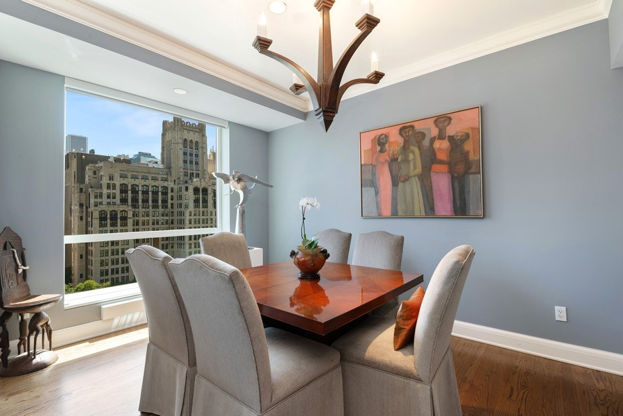 Real Estate Photography - 270 E Pearson, Apt 1102, Chicago, IL, 60611 - Dining Room